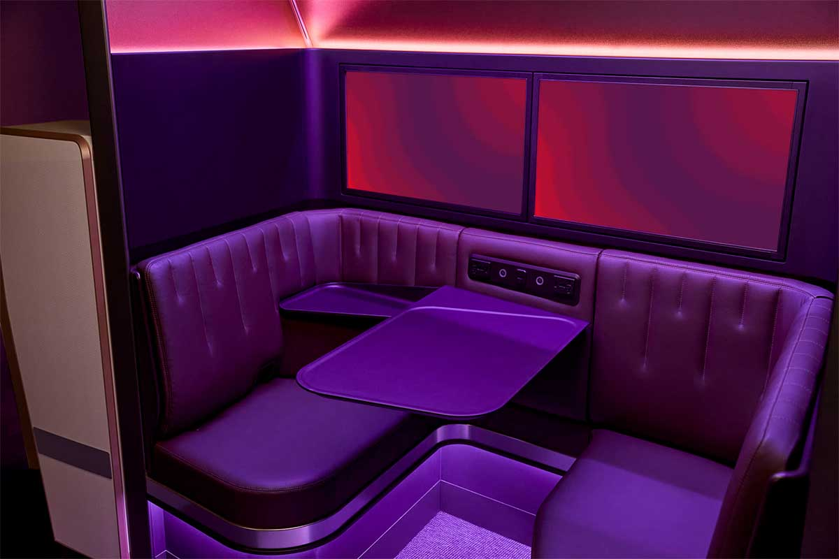 """""""The Booth,"""" a new immersive social space on some A350 aircraft"""