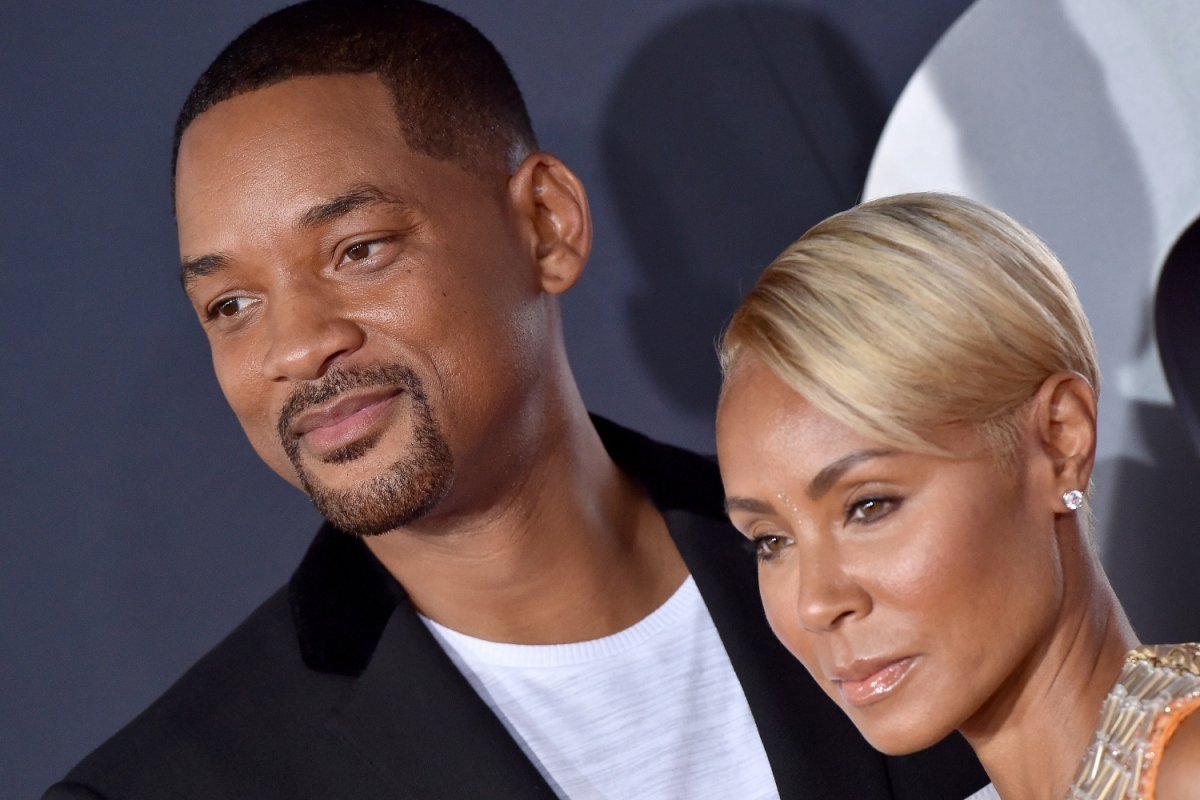 """Will Smith and wife Jada Pinkett Smith pose together at Paramount Pictures' Premiere of """"Gemini Man"""" on October 06, 2019 in Hollywood, California."""