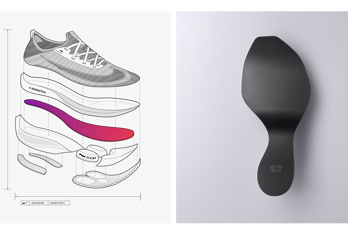 The construction of the Nike Air Zoom Alphafly.
