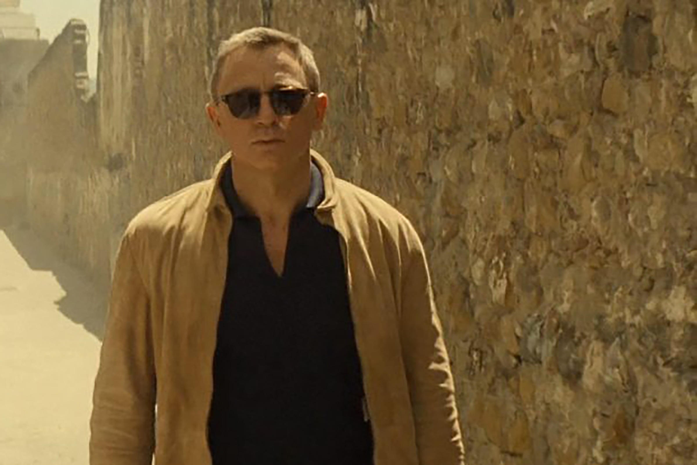 Daniel Craig rocks a tan suede jacket from Matchless in Spectre.