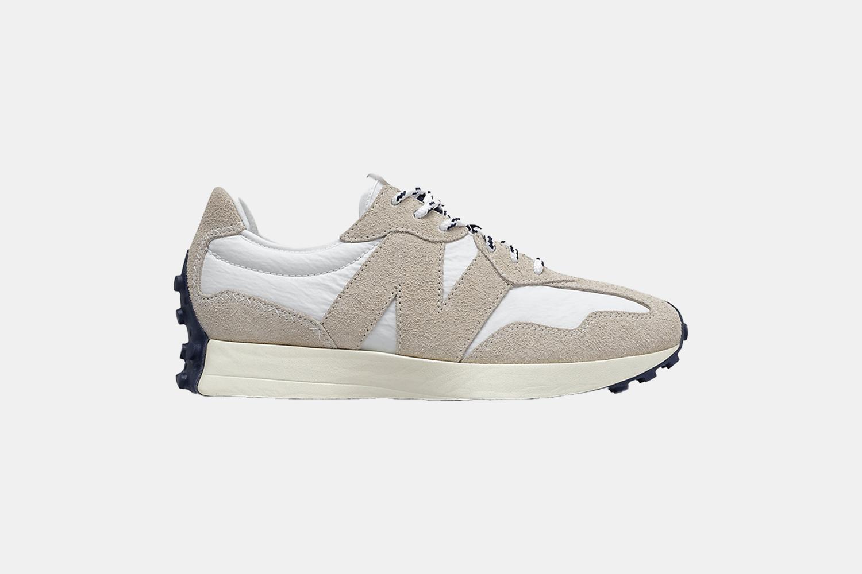 a tan and white shoe