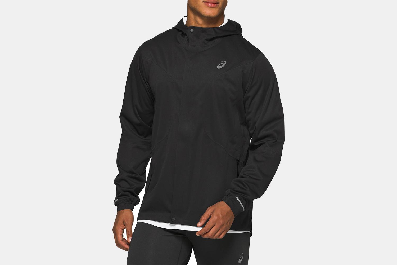 An all black running jacket