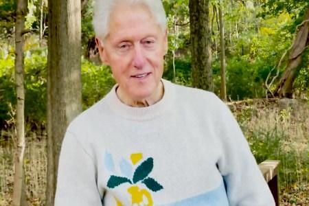 President Bill Clinton in a sweater