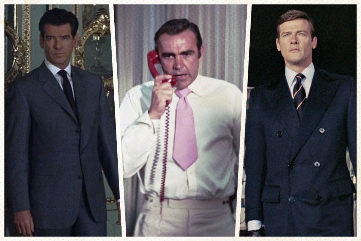 Three different Bond actors in suits.