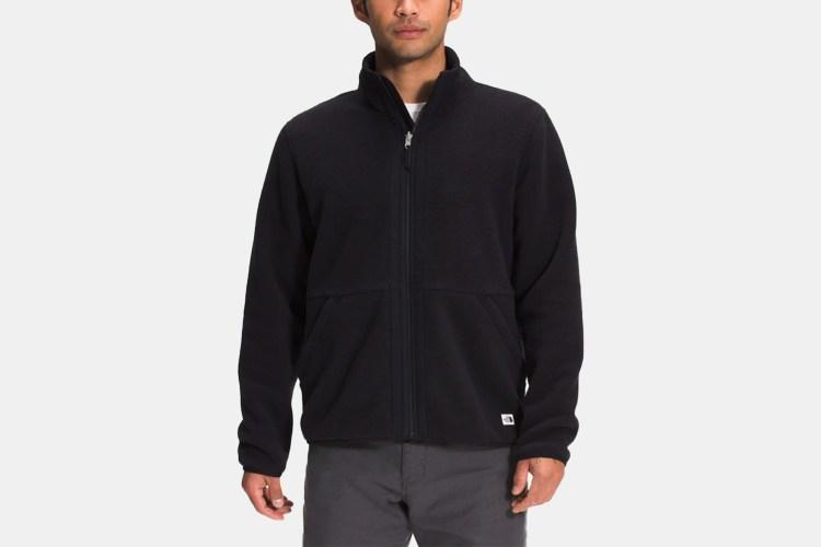 a black fleece jacket