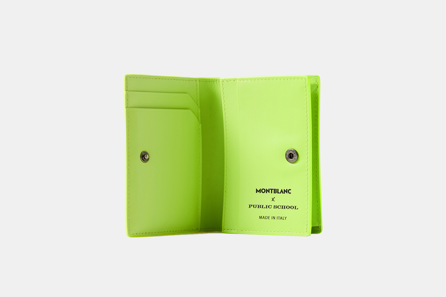 A neon yellow cardholder