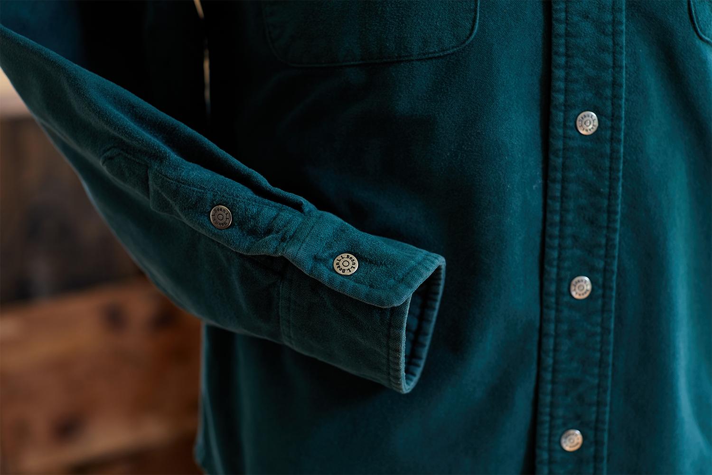 a close up of a L.L. Bean Chamios Shirt