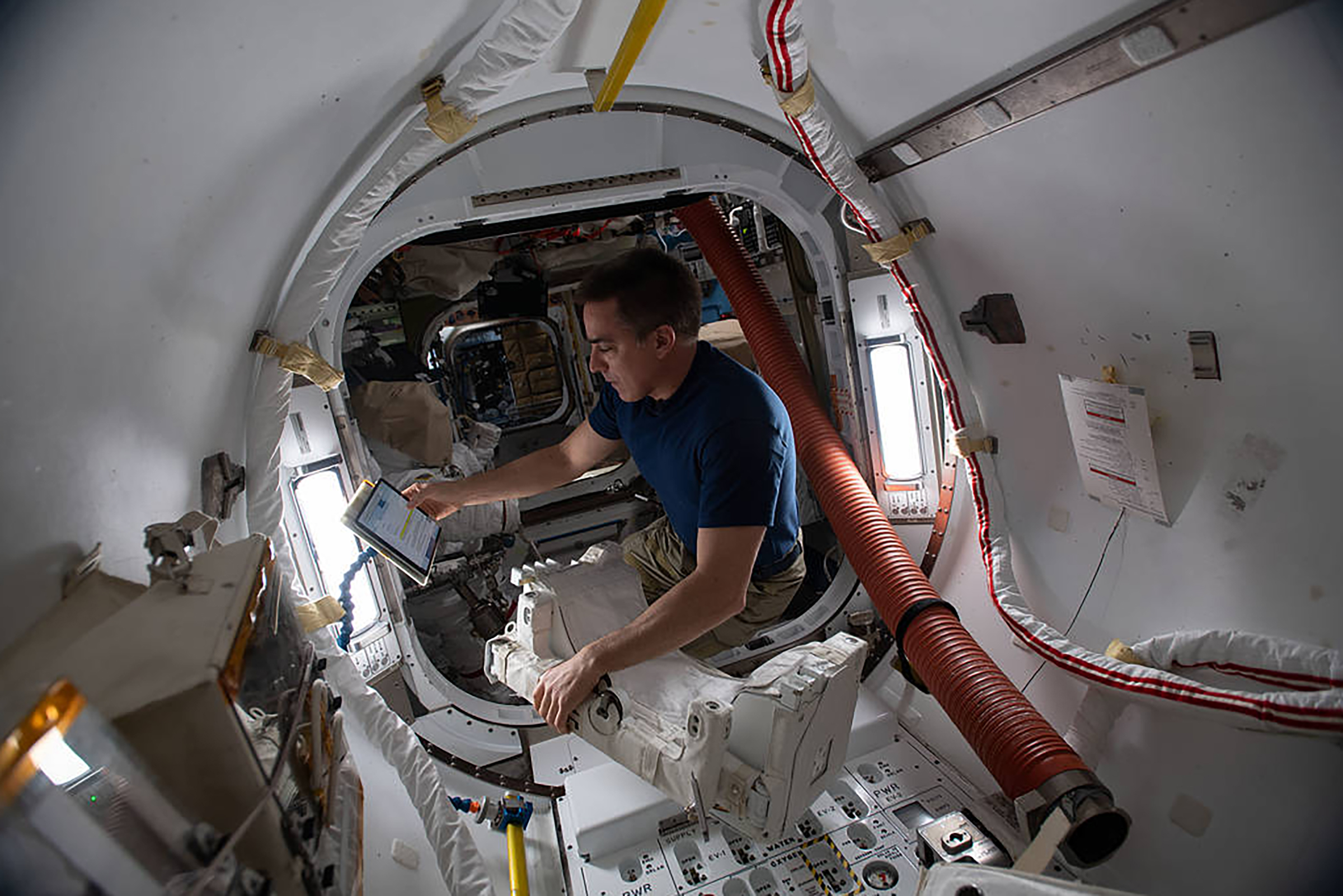 Chris Cassidy on one his trips to space.