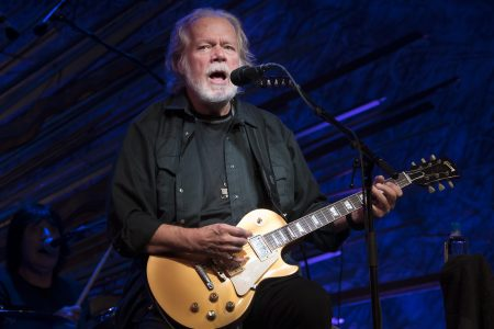 Randy Bachman performs at Sony Hall on August 28, 2019 in New York City. Bachman was reunited with a guitar of his that was stolen in 1976