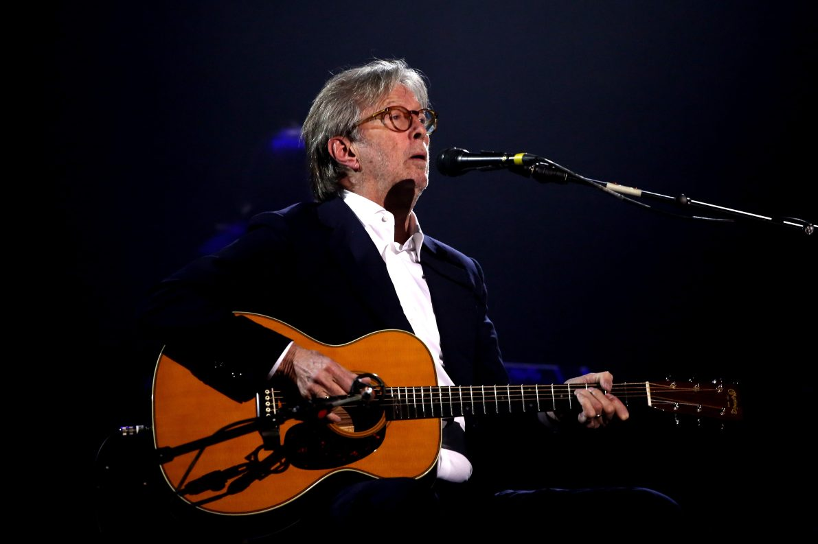 Eric Clapton on stage during The Fashion Awards 2019 held at Royal Albert Hall on December 02, 2019 in London, England.