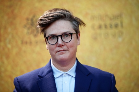 Hannah Gadsby attends the Australian premiere of Hamilton at Lyric Theatre, Star City on March 27, 2021 in Sydney, Australia.