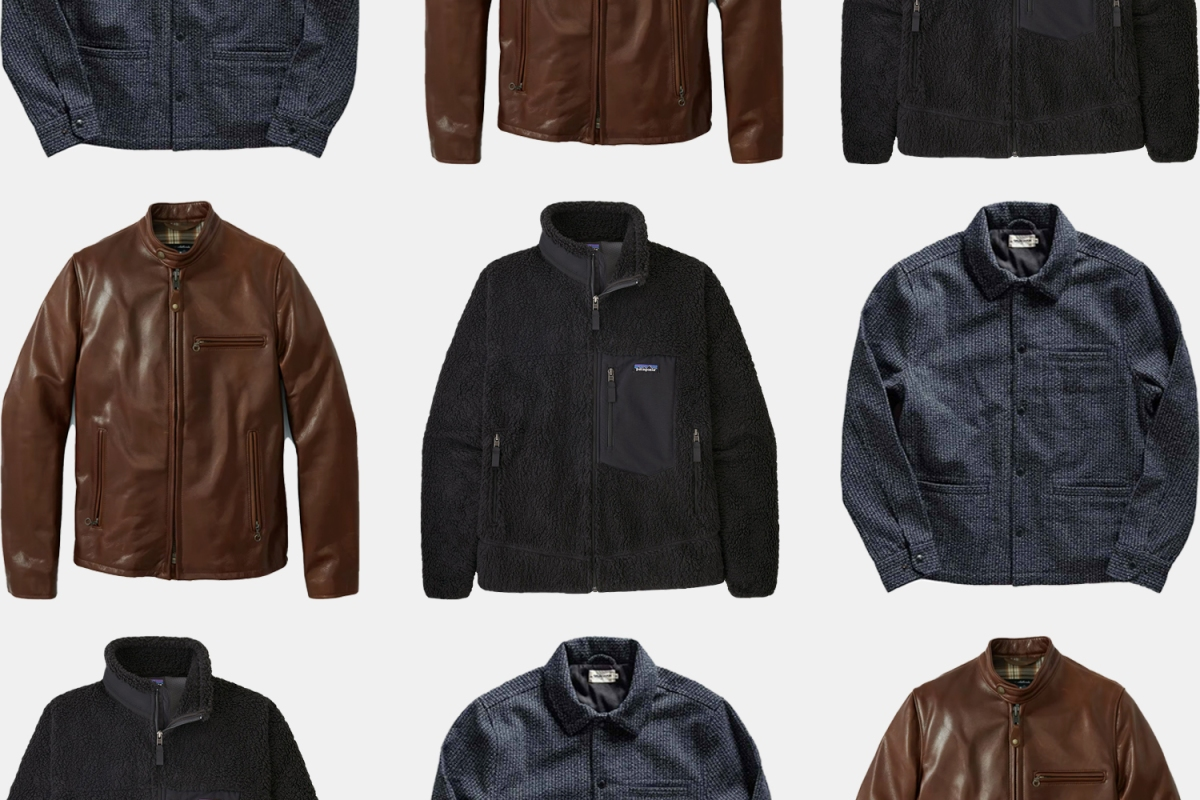 A collage of jackets