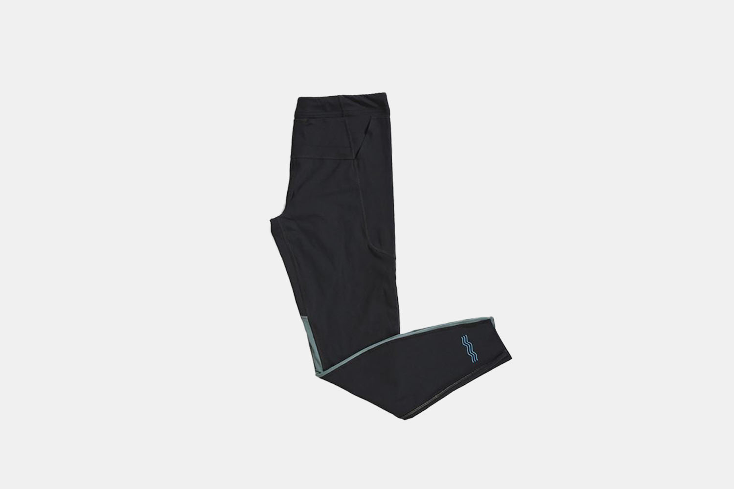 a pair of product shot black running tights