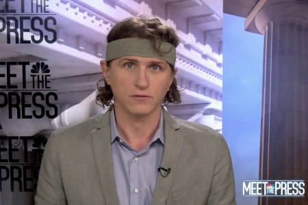 Jeff Horwitz appeared on Meet the Press with a new fashion choice.