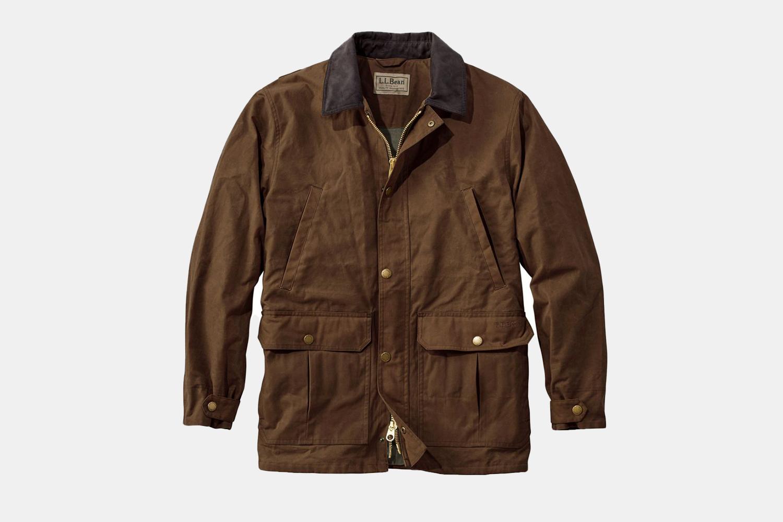 a tan waxed jacket