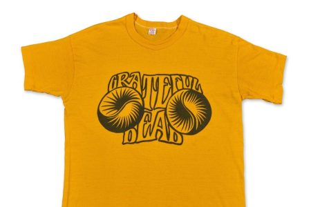 This vintage Grateful Dead t-shirt sold for a record price through auction at Sotheby's.