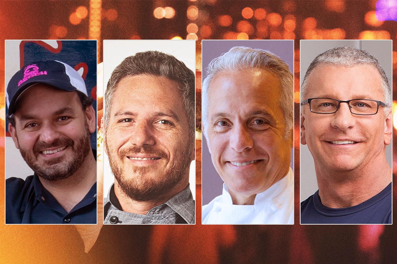 NYCWFF chefs Matt Abdoo, Spike Mendelsohn, Geoffrey Zakarian and Robert Irvine