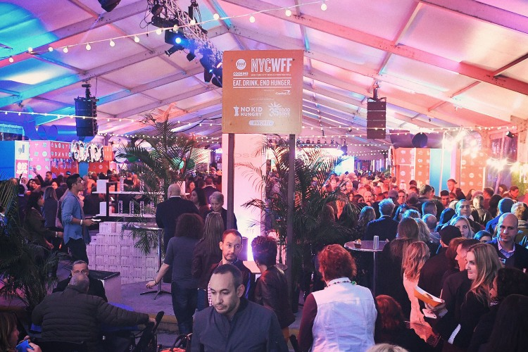 A view of the crowd during the Food Network's rooftop birthday party hosted by Alton Brown, Giada De Laurentiis, Bobby Flay and Ina Gart at Pier 92 on October 13, 2018 in New York City. Several celebrity chefs provide tips for cooking for large groups of people.