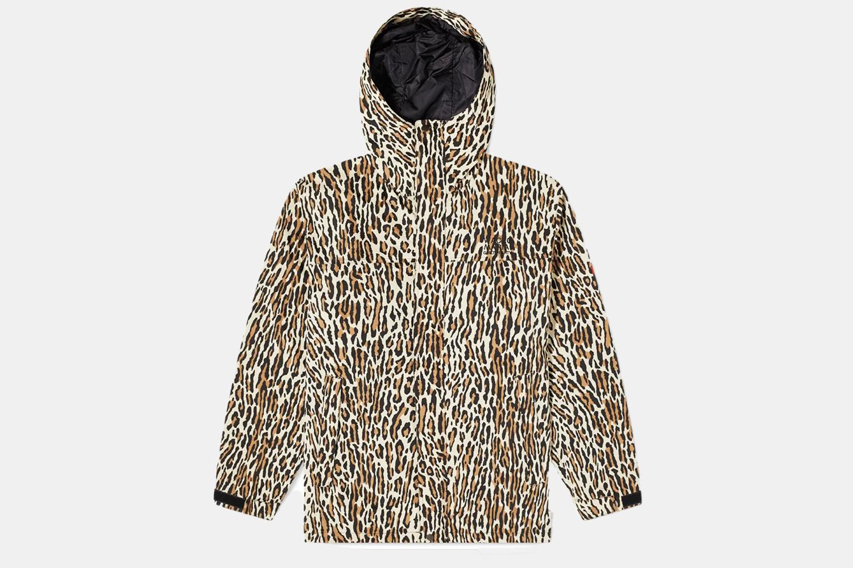 a leopard print windbreaker