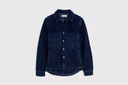 Quilted Indigo Shirt Jacket
