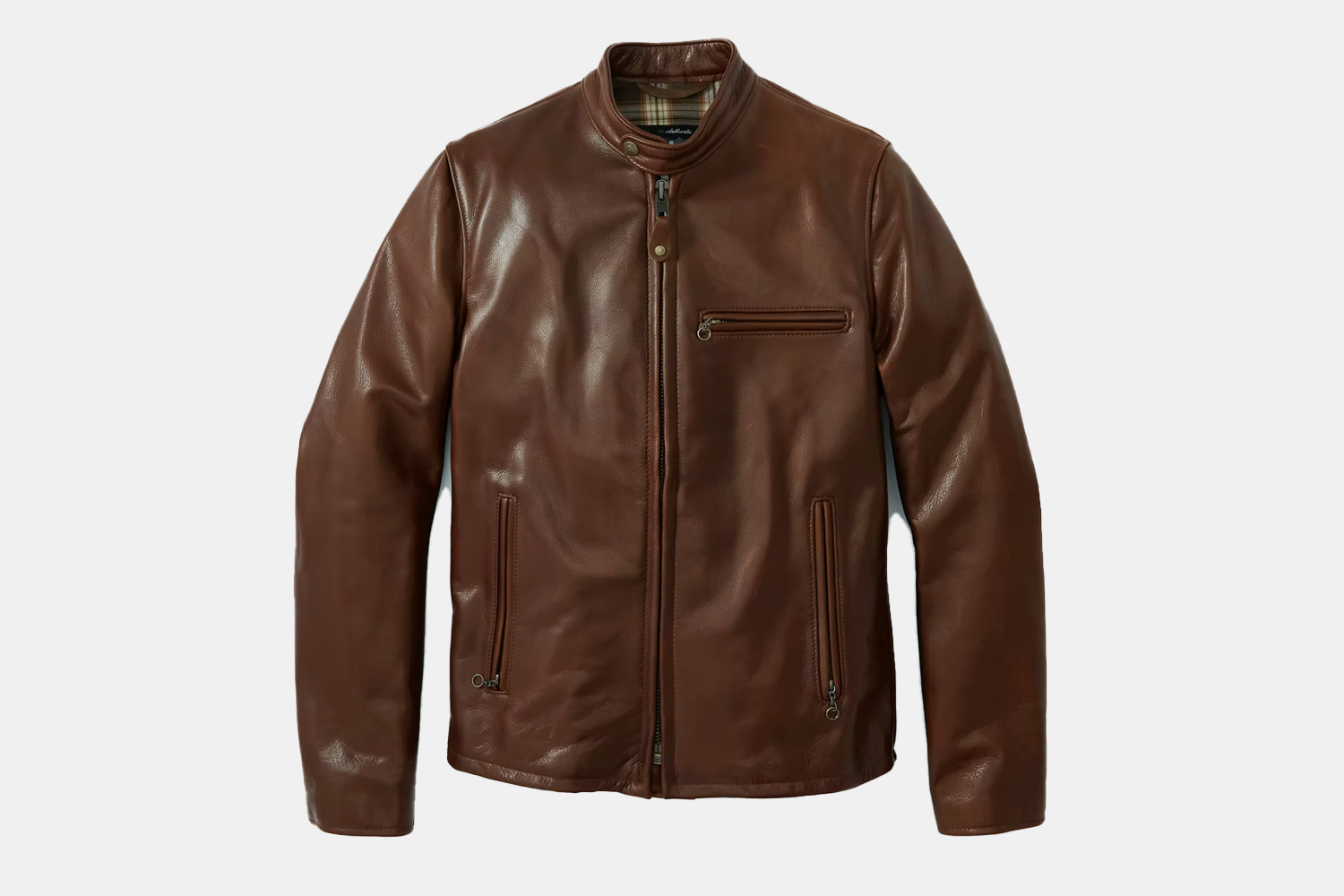 a textured leather jacket