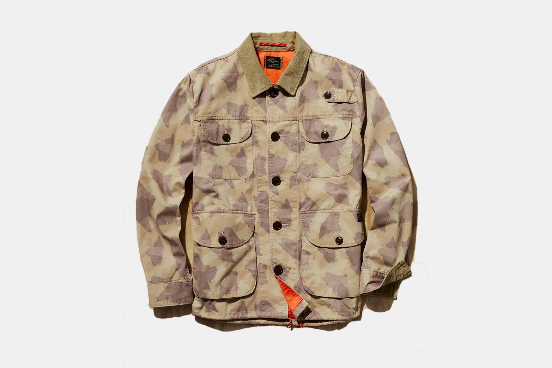 a Camo jacket