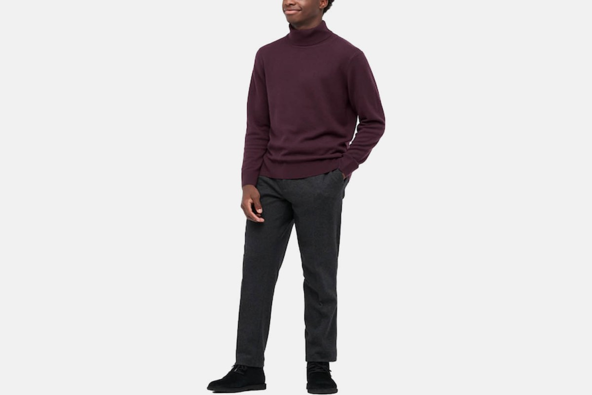 q wine colored cashmere turtleneck