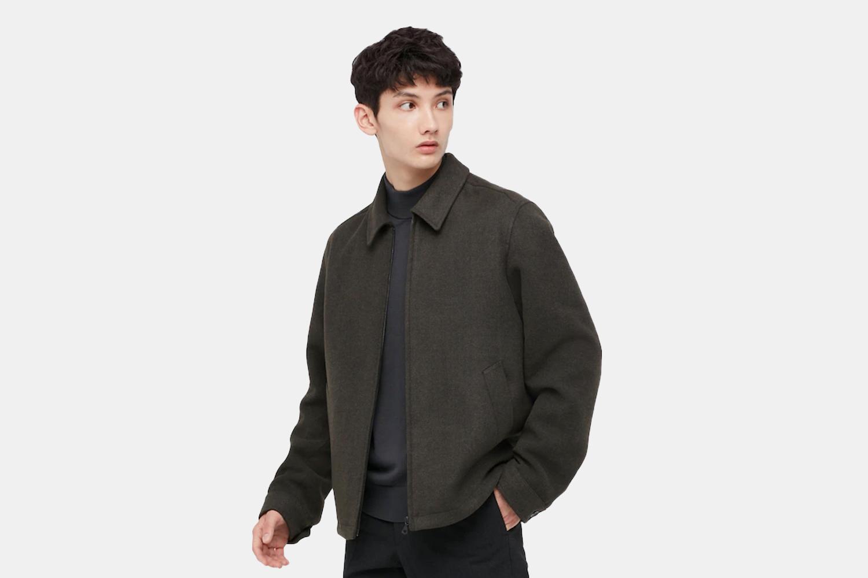 a brown zip jacket
