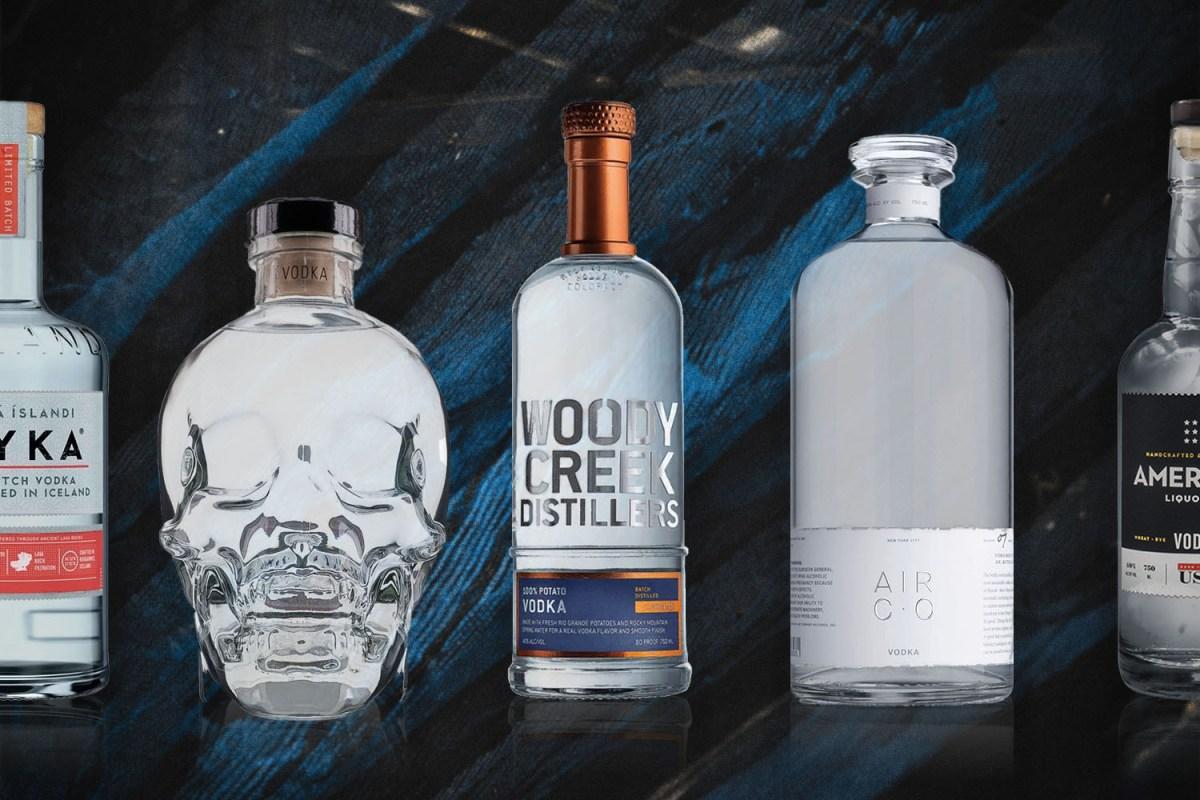 Several vodka bottles in a roundup celebrating National Vodka Day