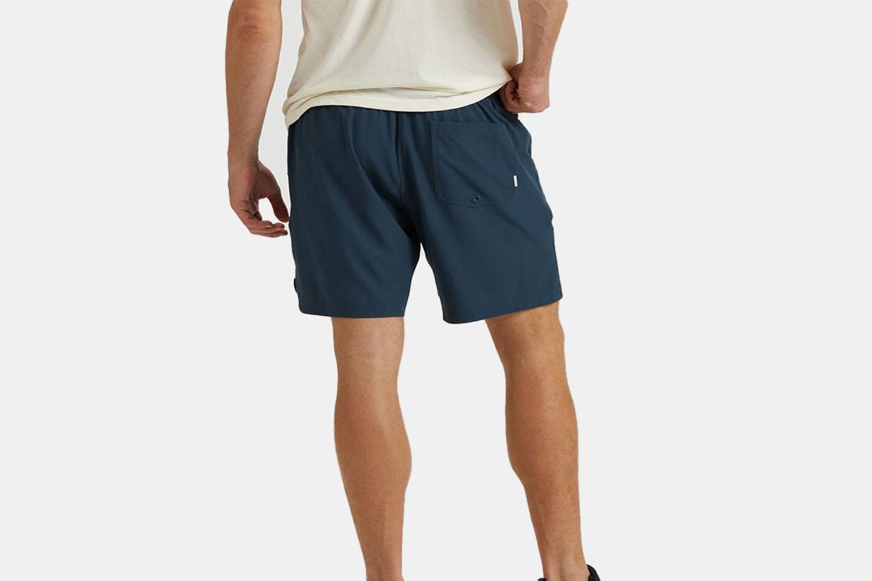 The back of Vuori shorts