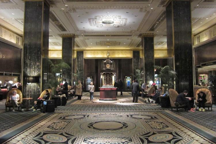 Waldorf Astoria lobby