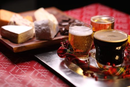 A beer and cheese spread