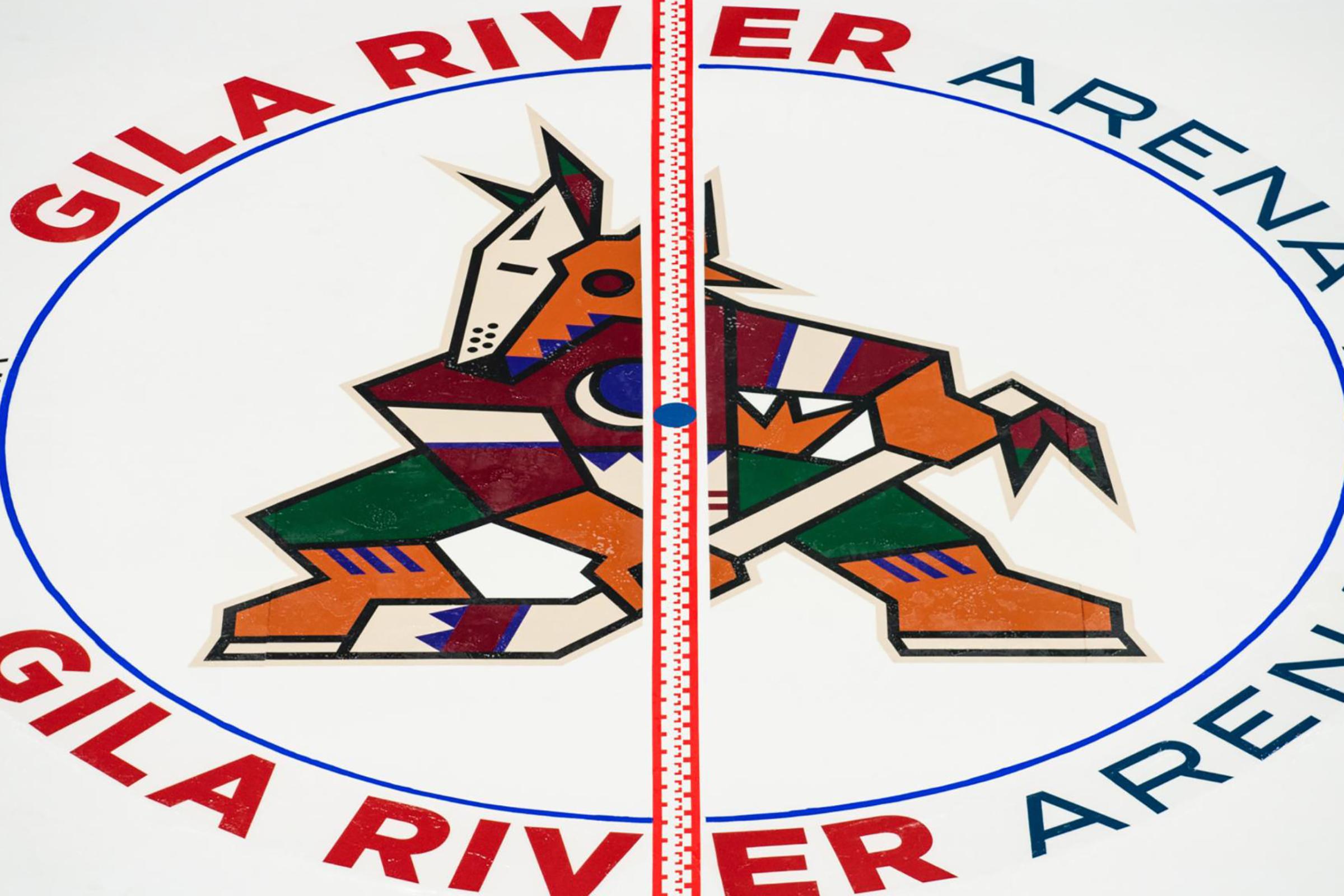 Arizona Coyotes ice design