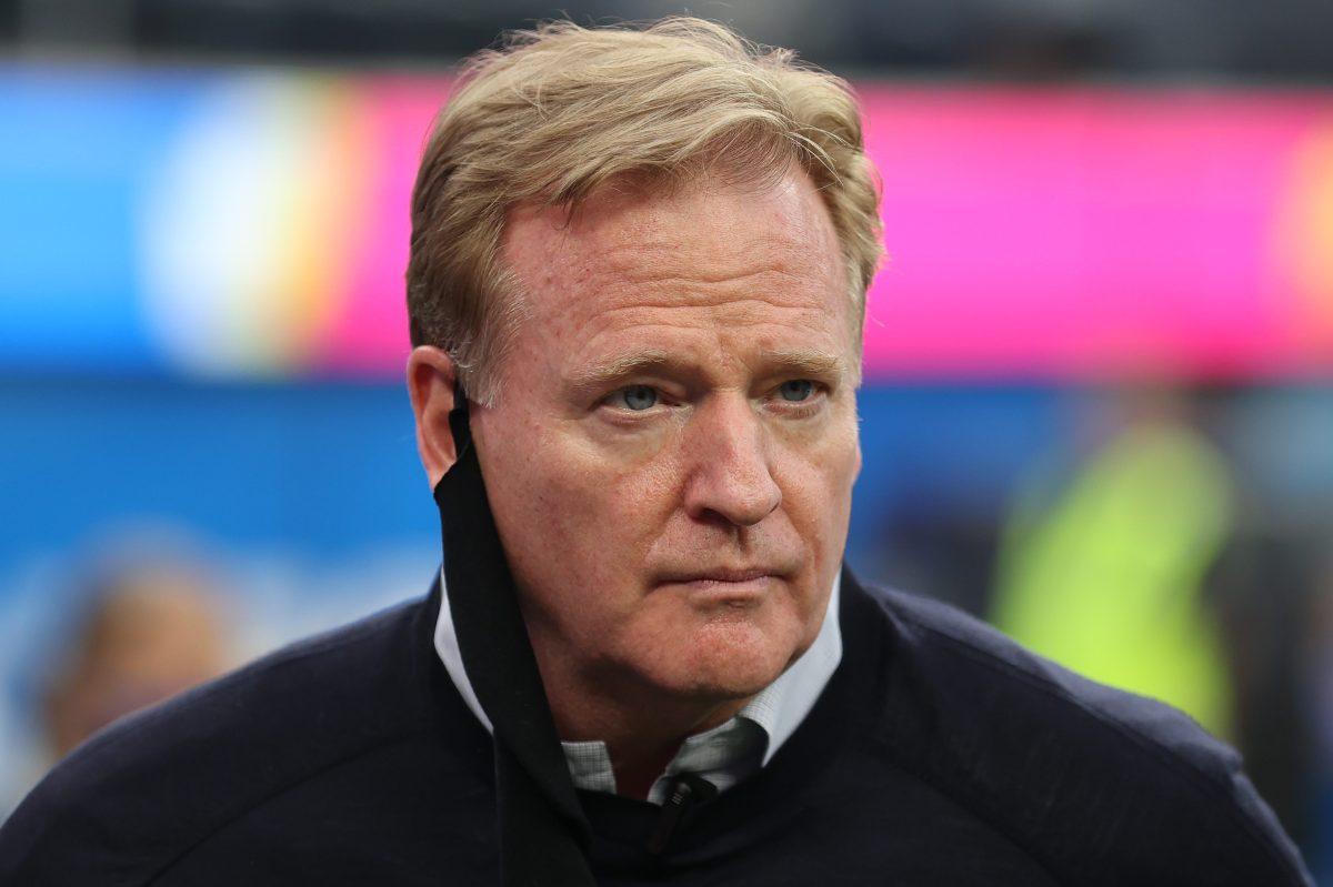 NFL commissioner Roger Goodell looks on before the Las Vegas Raiders play