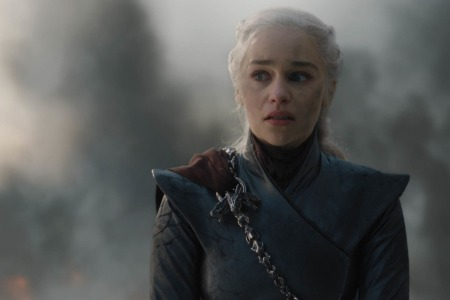 Emilia Clarke in Game of Thrones season 8, episode 5 ... which was not well loved by viewers, according to a new chart