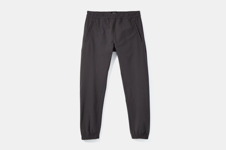 proof joggers on grey background