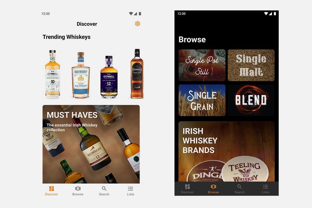 Irish Whiskey app screenshots