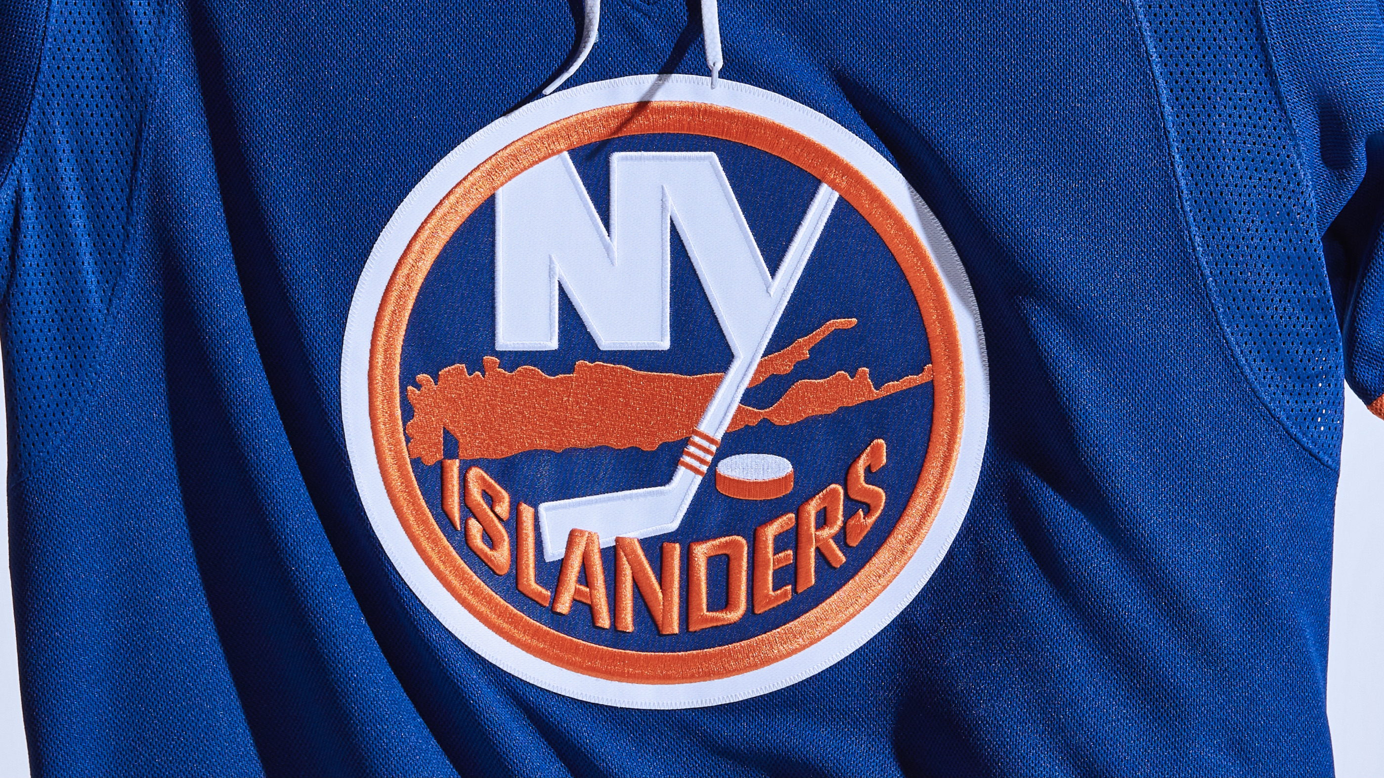 The New York Islanders' home blue uniform for the 2021-22 NHL season