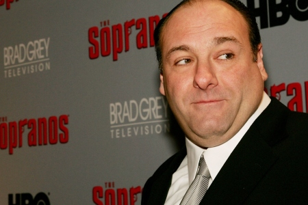 """Actor James Gandolfini attends the sixth season premiere of the HBO series """"The Sopranos"""" at the Museum Of Modern Art, on March 7, 2006 in New York City."""