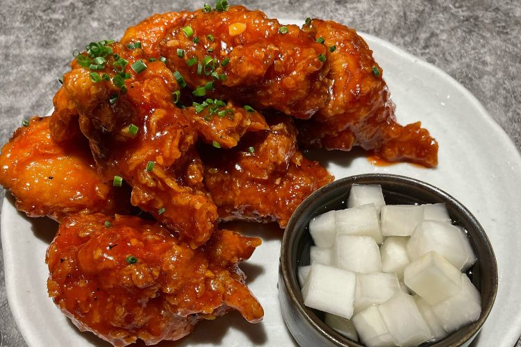 Chef's kiss: The Korean fried chicken from Yoon Haeundae Galbi in NYC.