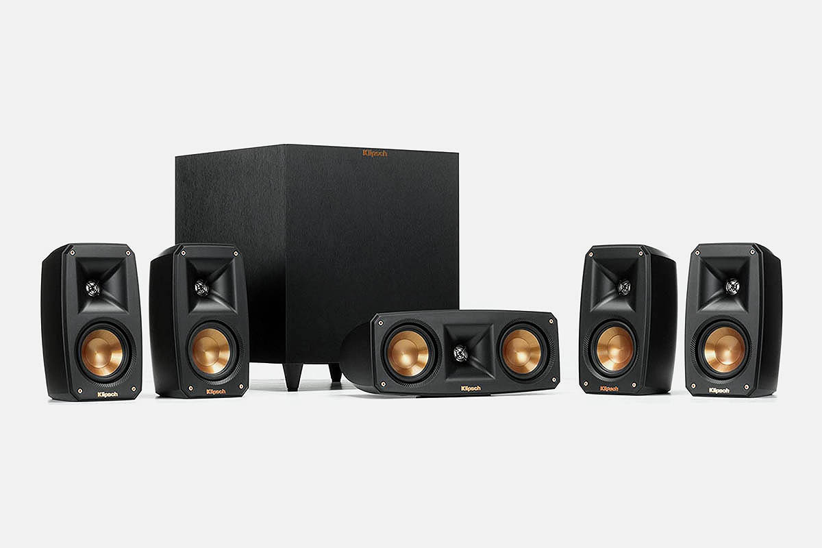 Klipsch Reference 5.1 Channel Surround Sound System with Wireless Subwoofer, now 68% off at Woot