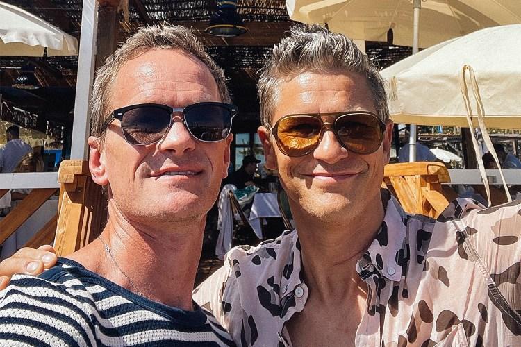 Neil Patrick Harris and David Burtka take a selfie in Italy.
