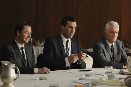 Characters from AMC's Mad Men, including Don Draper.