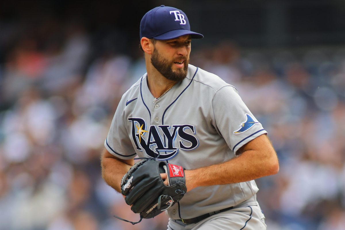 Michael Wacha of the Tampa Bay Rays pitches against the New York Yankees