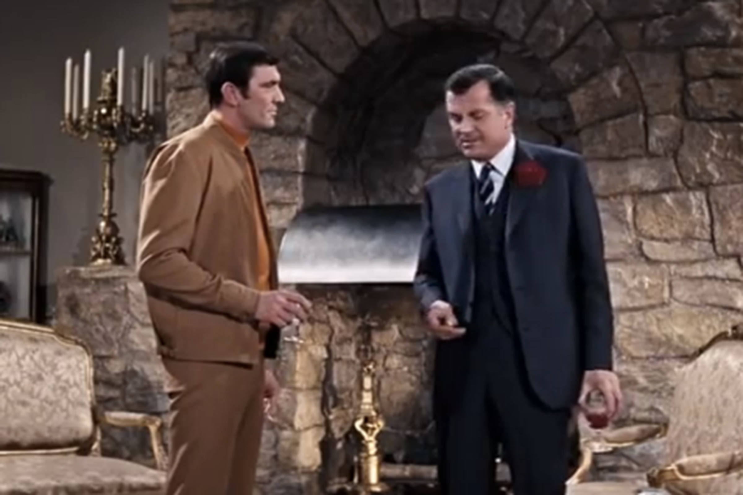 James Bond sports a tan golf outfit in On Her Majesty's Secret Service.
