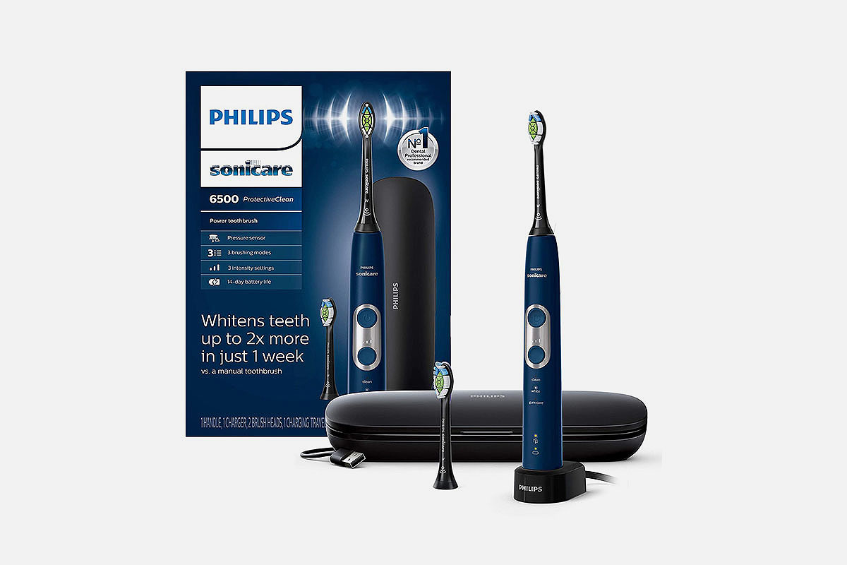 Philips Sonicare 6500 electric toothbrush, now on sale at Amazon