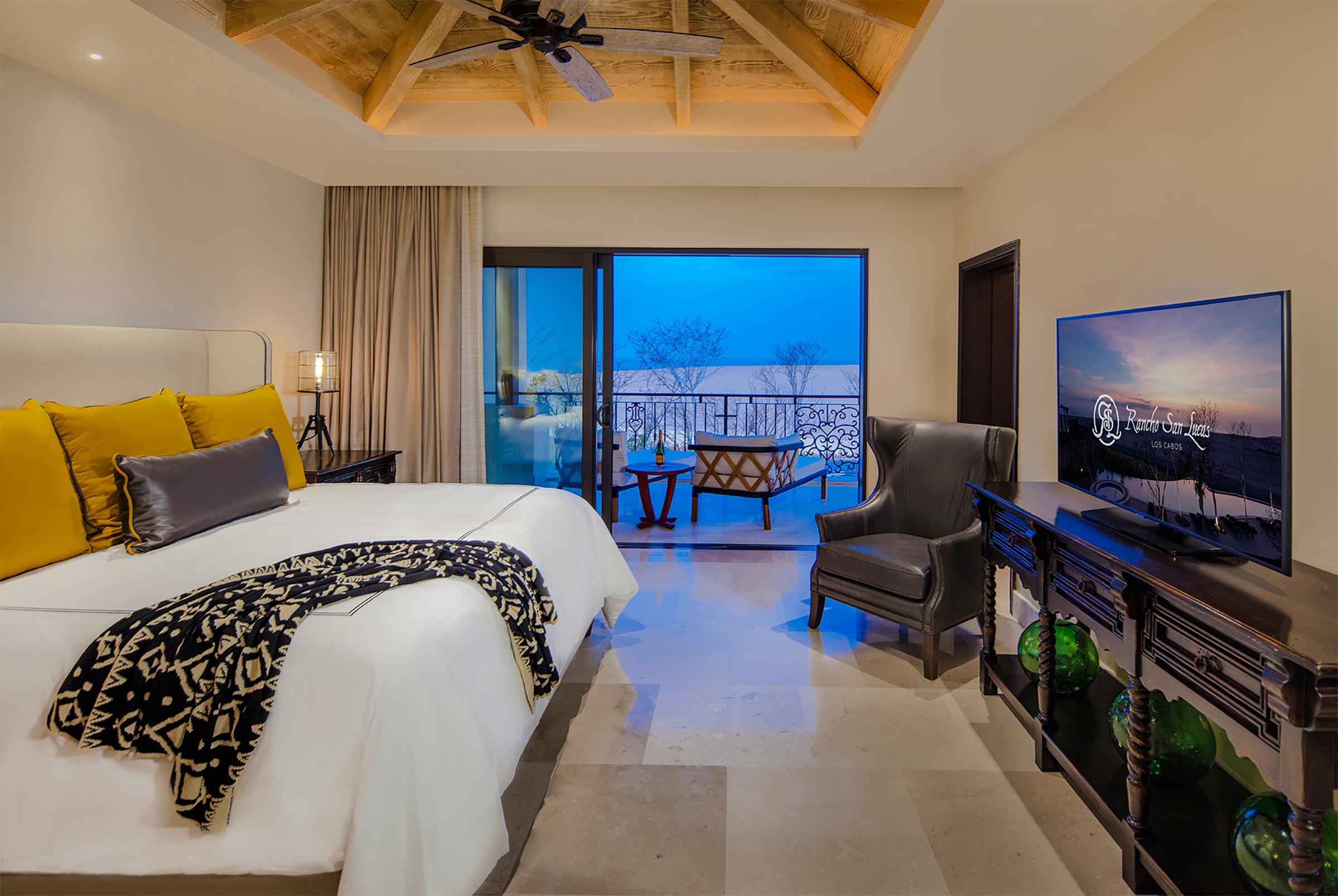 A room at the Rancho San Lucas hotel.