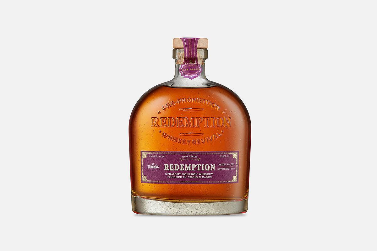 Redemption Cognac Cask Finish Straight Bourbon Whiskey