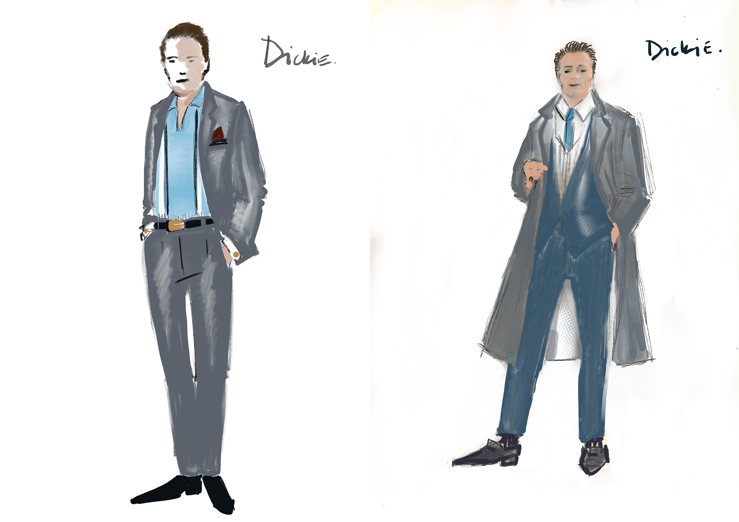 Sketches of Dickie Moltisanti
