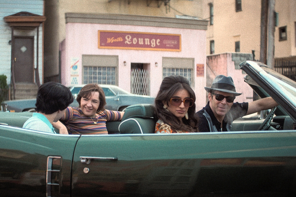 """Tony's family drives in a convertible in """"The Many Saints of Newark"""""""
